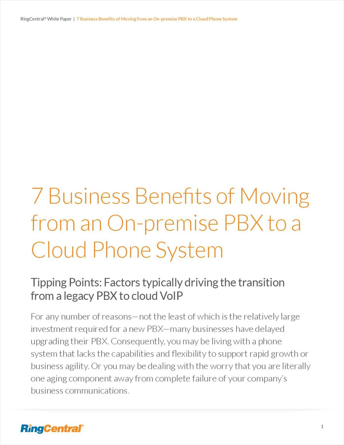 7 Business Benefits of Moving from an On-premise PBX to a Cloud Phone System