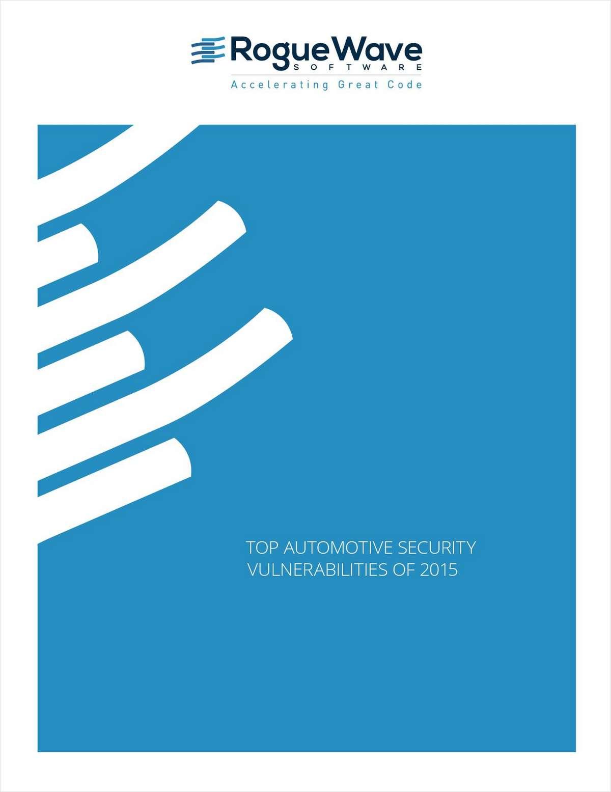 Top Automotive Security Vulnerabilities