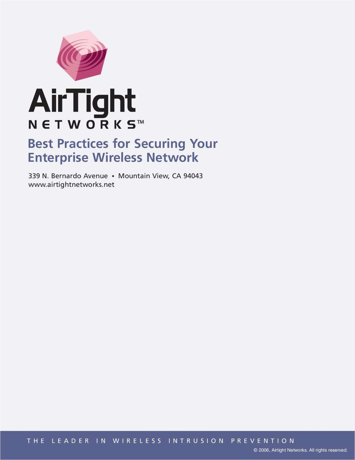 Best Practices for Securing Your Enterprise Wireless Network