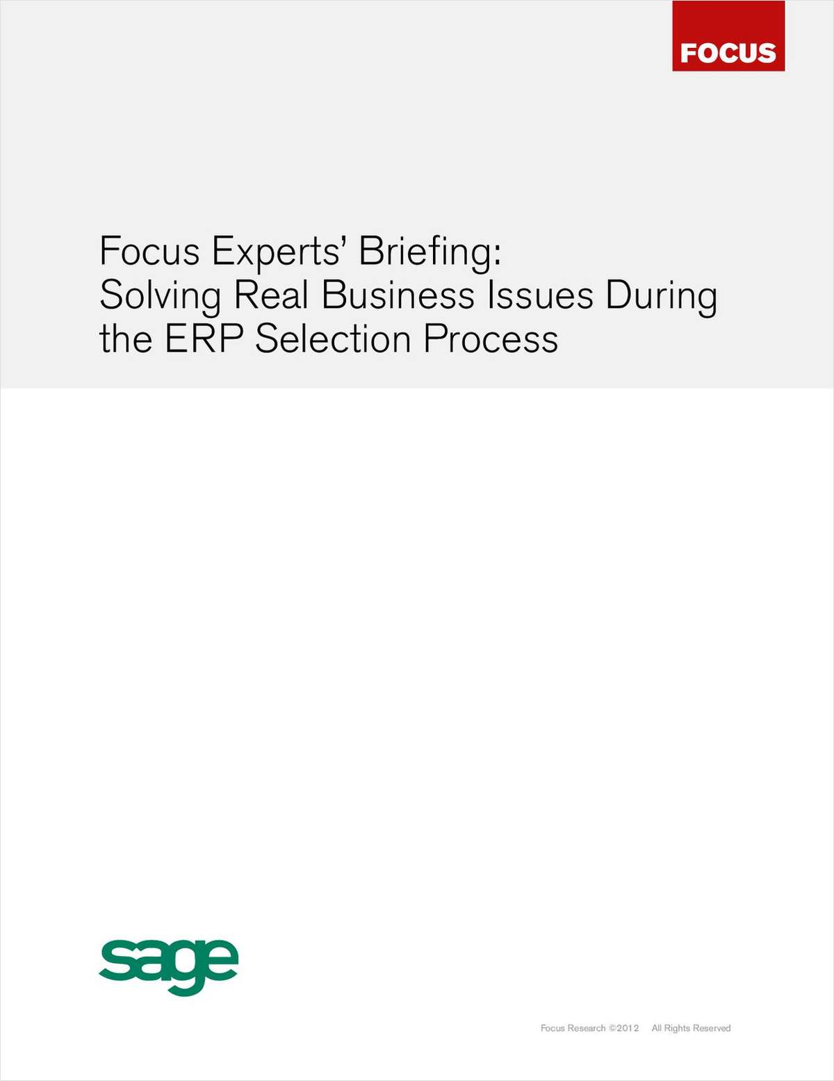 Solving Real Business Issues During the ERP Selection Process