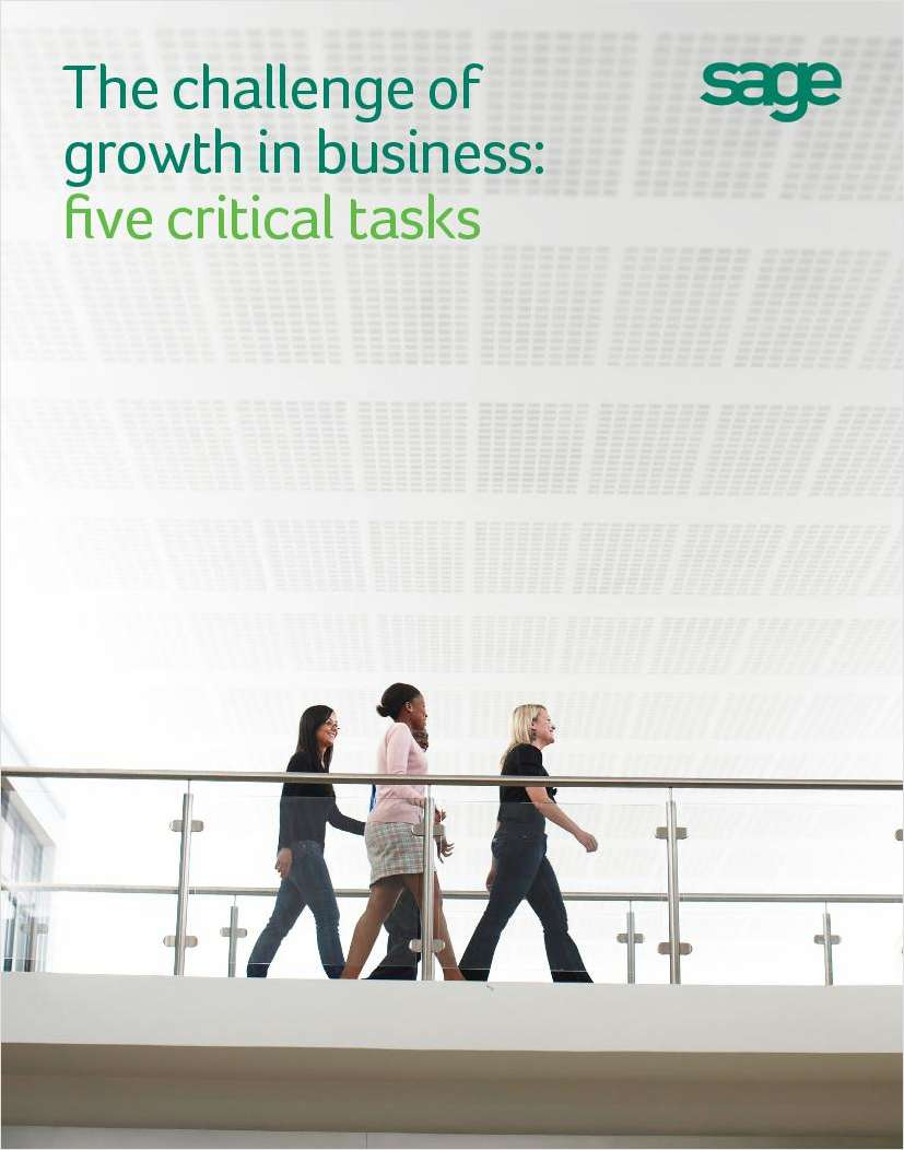The Challenge of Growth in Business: Five Critical Tasks