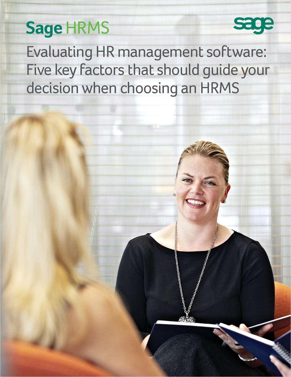 Five Key Factors that Should Guide Your Decision When Choosing HR Management Software