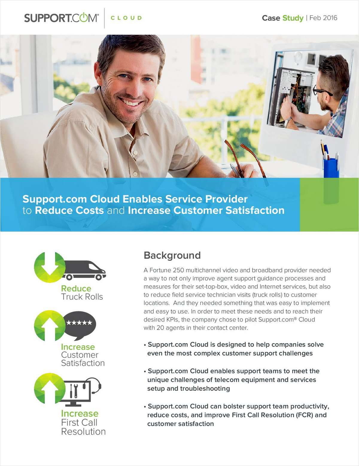 Support.com Cloud Enables Service Providers to Reduce Cost and Increase Customer Satisfaction