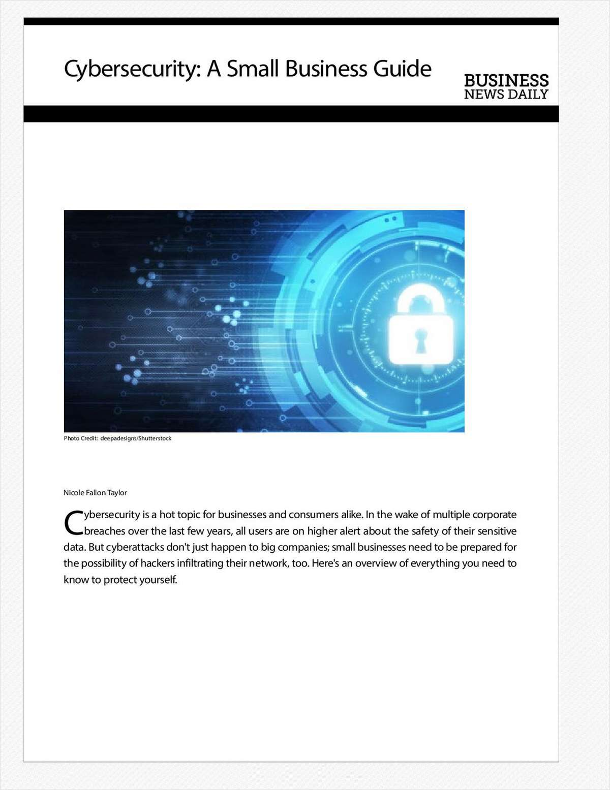 Cybersecurity: A Small Business Guide