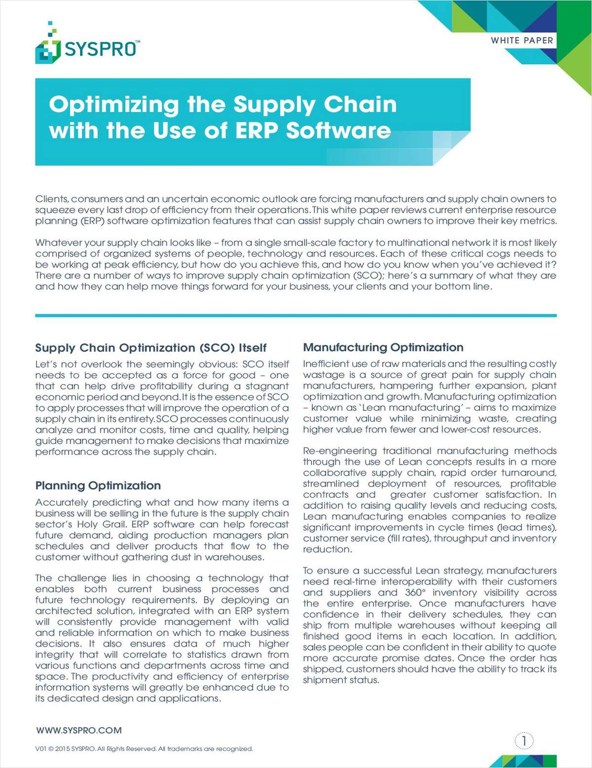 Optimizing the Supply Chain with the Use of ERP Software