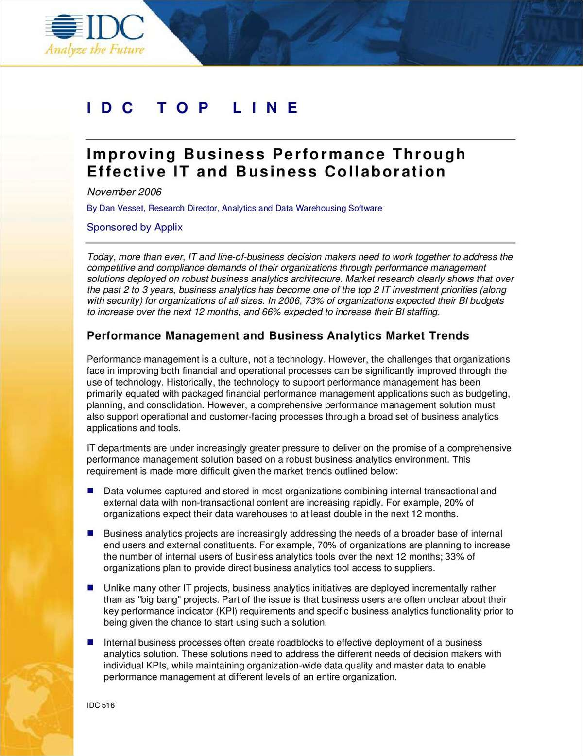 Improving Business Performance through Effective IT and Business Collaboration