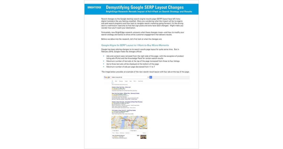 Demystifying Google Serp Layout Changes Free Brightedge Report