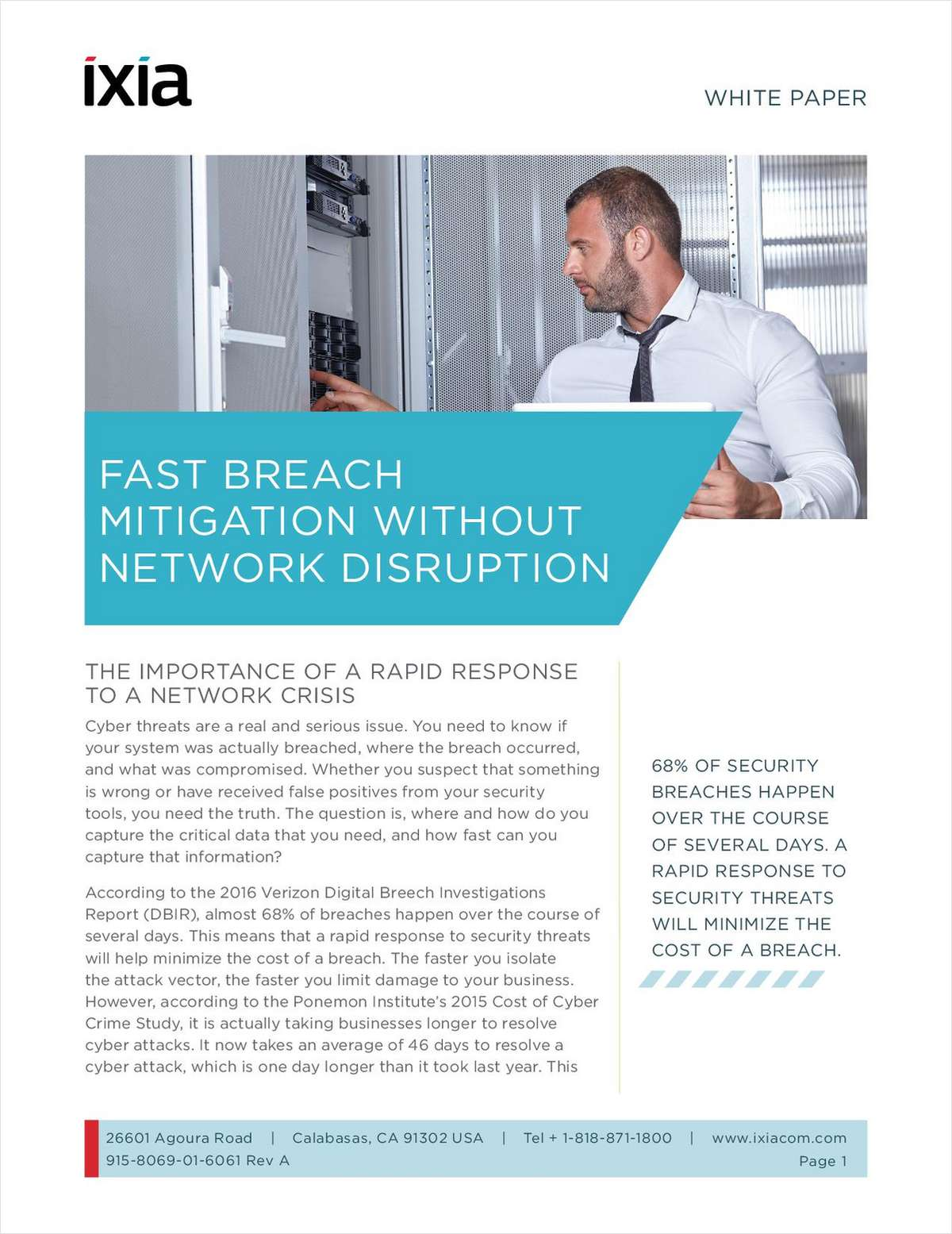 fast breach mitigation without network disruption free ixia white paper