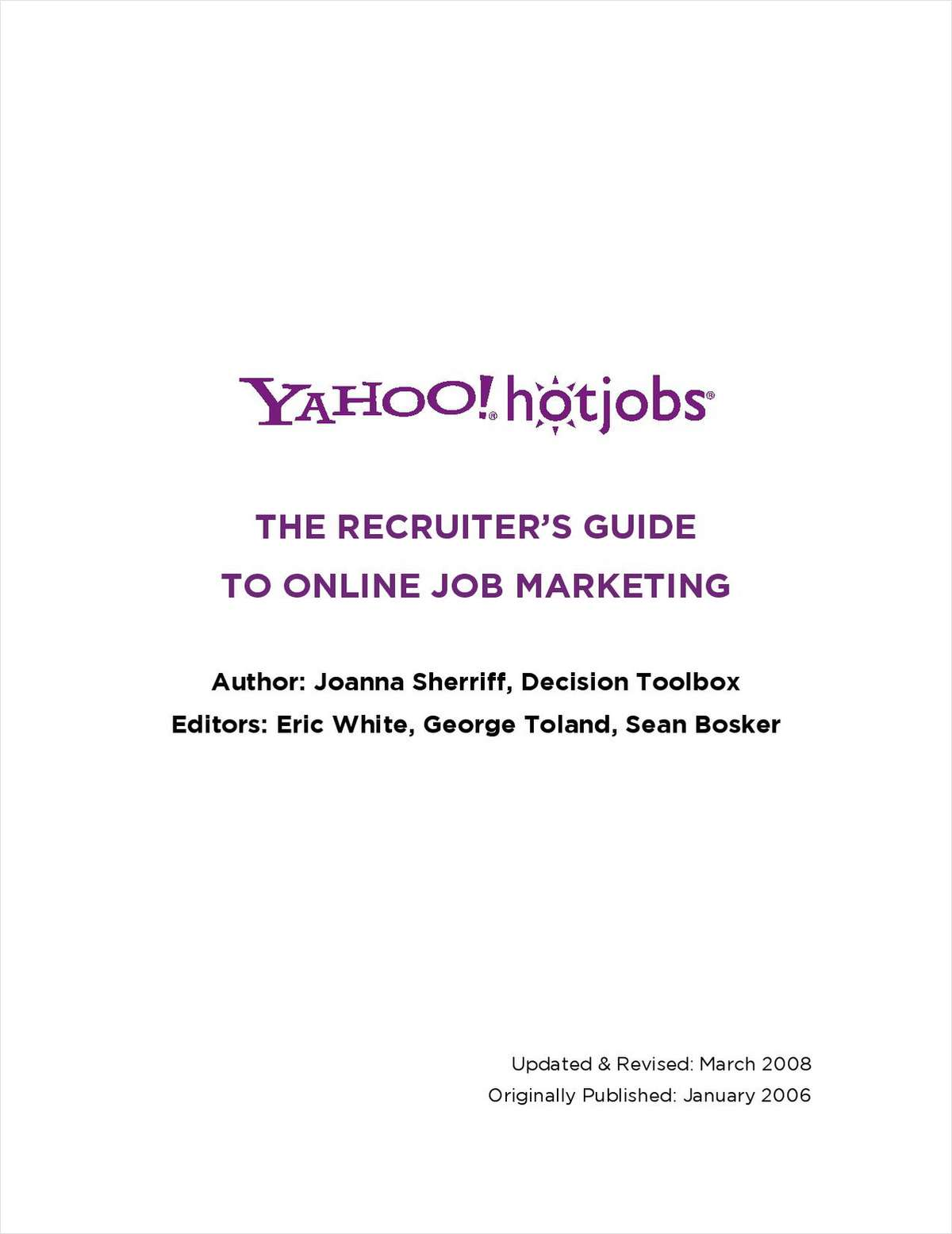 The Recruiter's Guide to Online Job Marketing