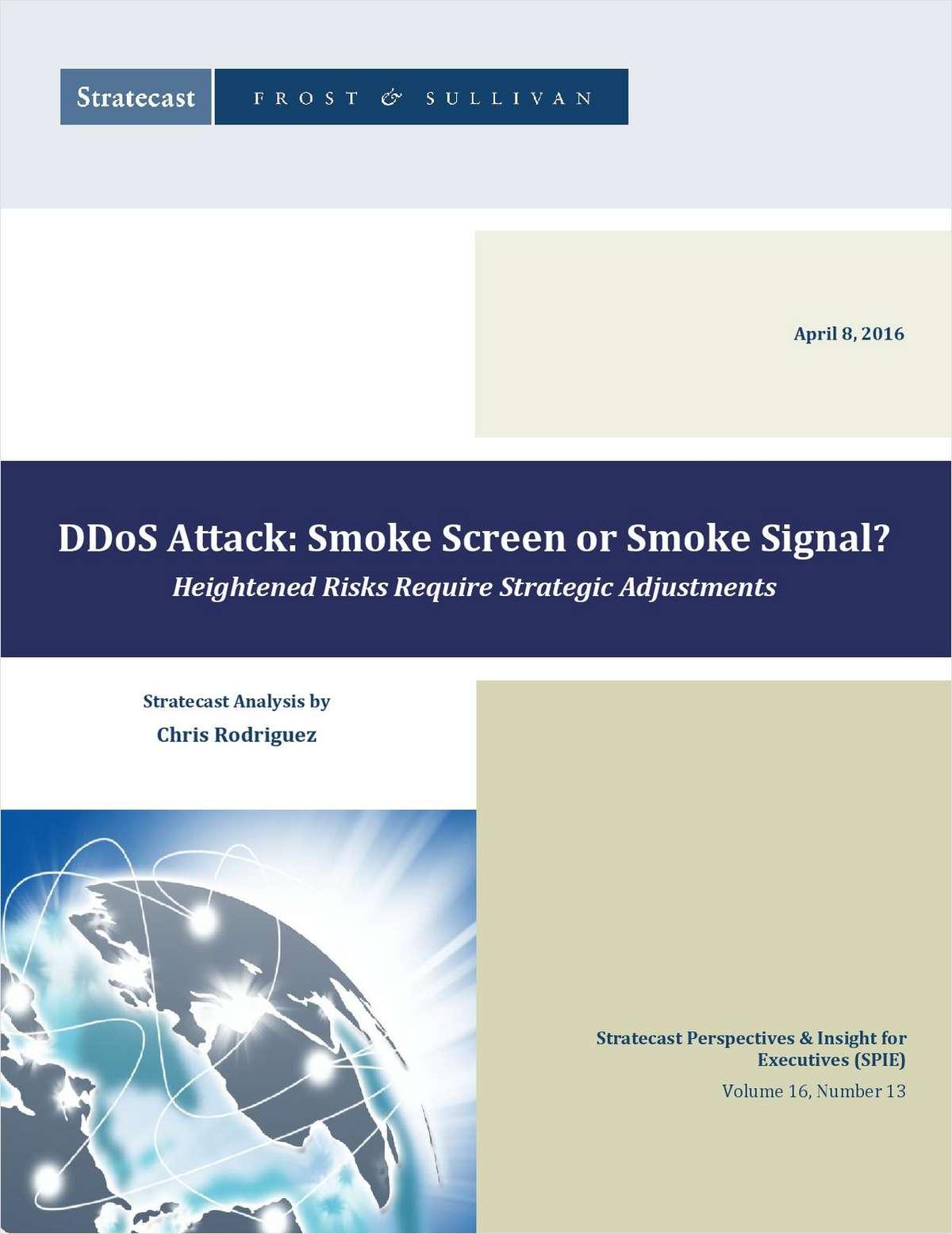 ddos attack smoke screen or smoke signal free arbor networks