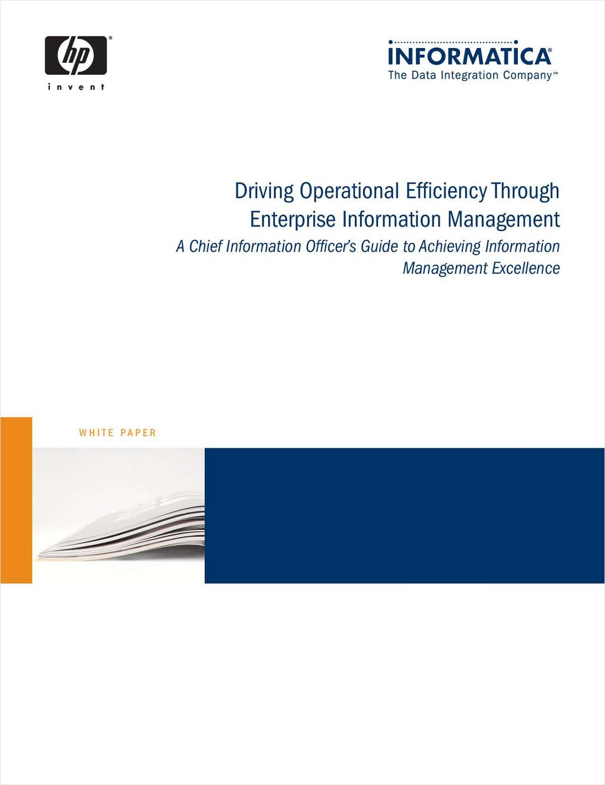 A CIO's Guide to Achieving Information Management Excellence