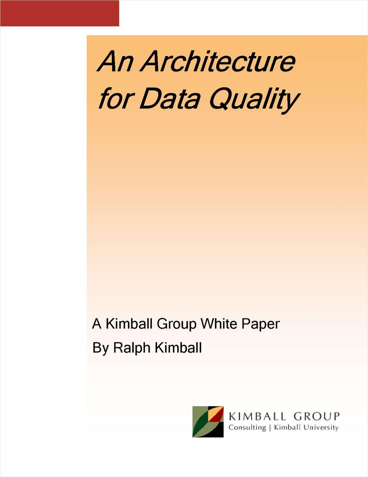An Architecture for Data Quality