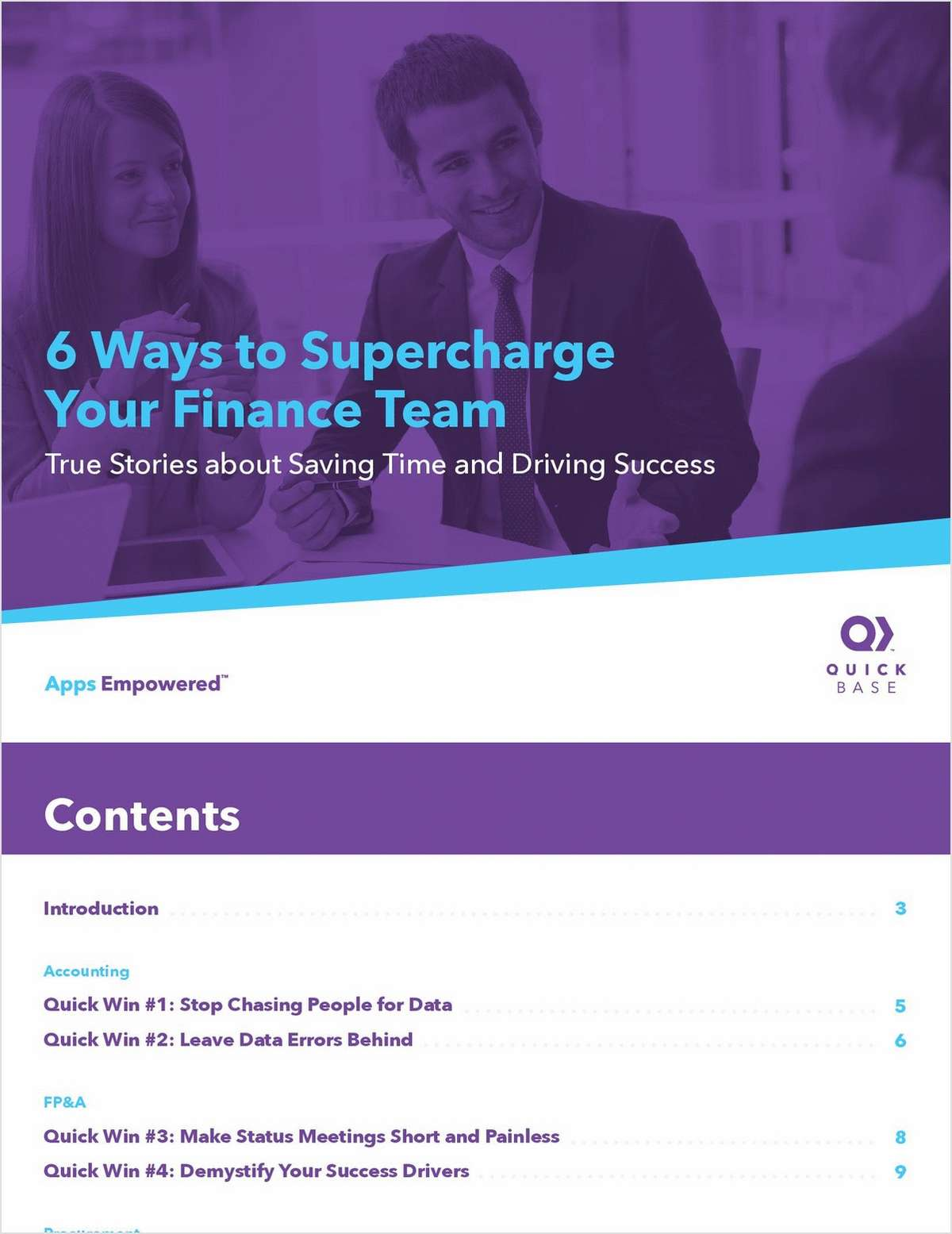 6 ways to supercharge your finance team free quick base ebook fandeluxe Choice Image