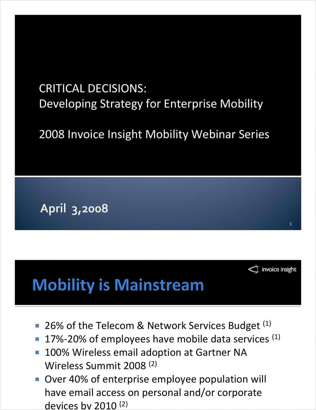 Critical Decisions: Developing Strategy for Enterprise Mobility