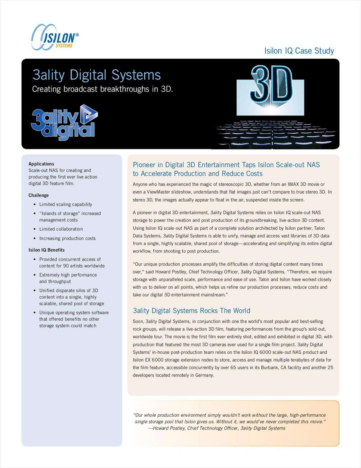 Isilon IQ Case Study: 3ality Digital Systems