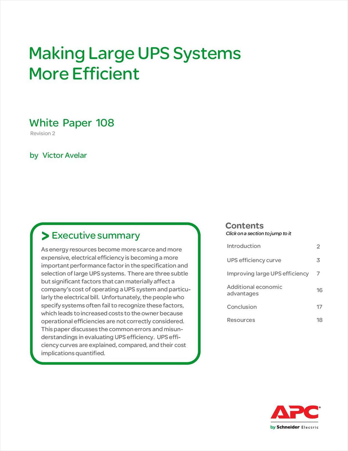 Making Large UPS Systems More Efficient