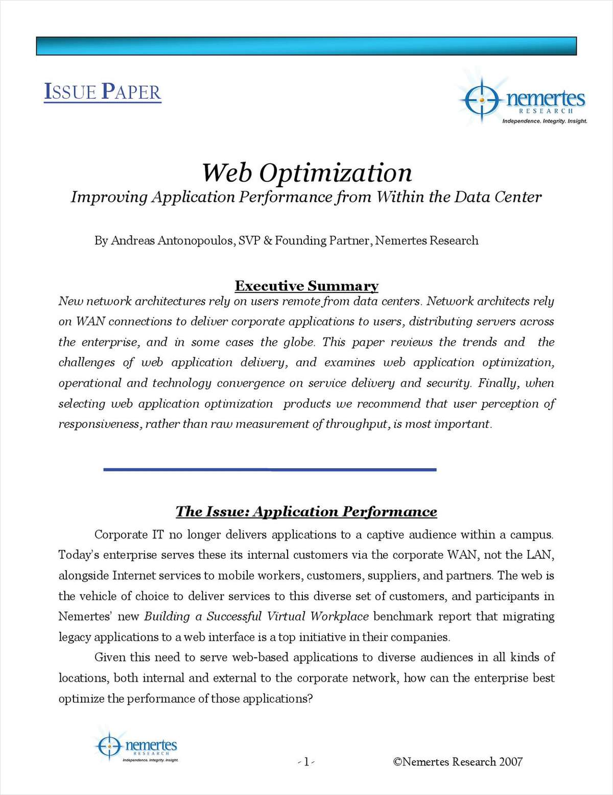 Improving Application Performance from Within the Data Center
