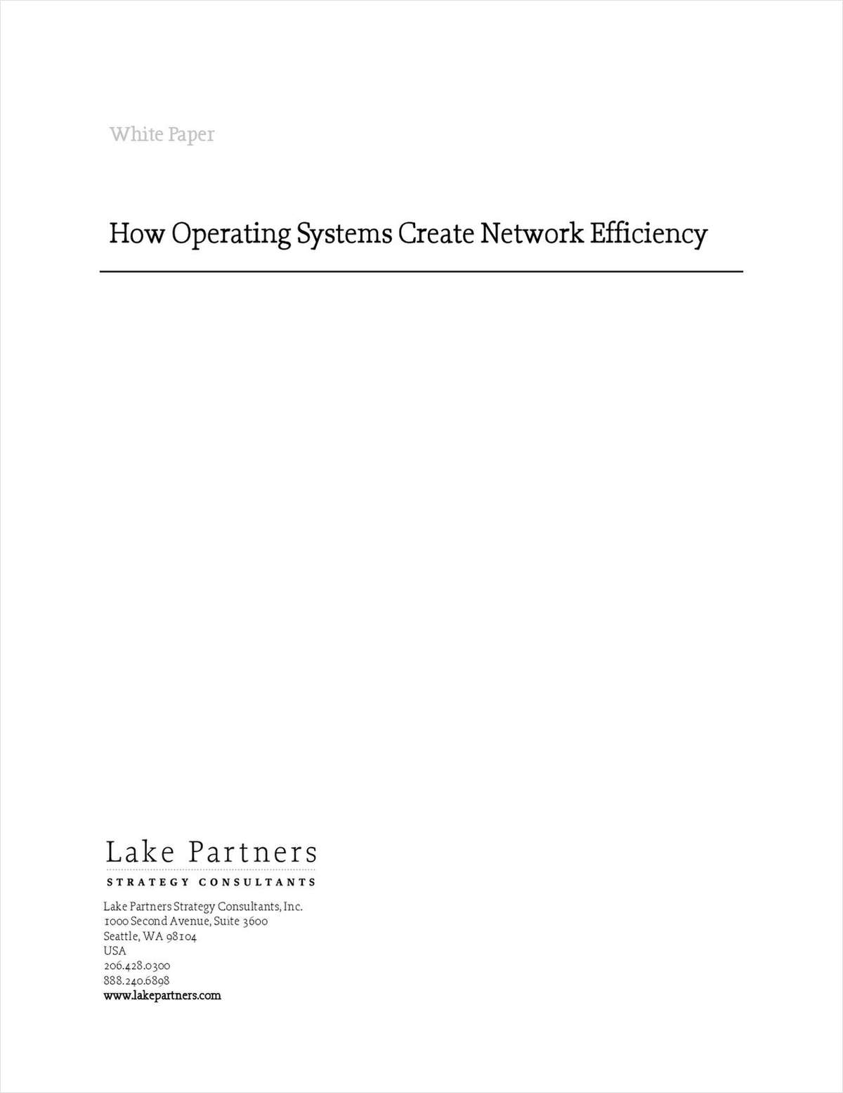 How Operating Systems Create Network Efficiency