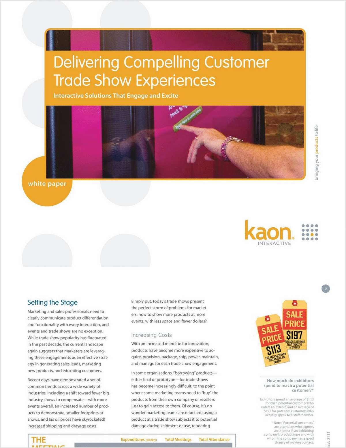 Displaying your Physical Products and Delivering a Compelling Customer Trade Show Experience