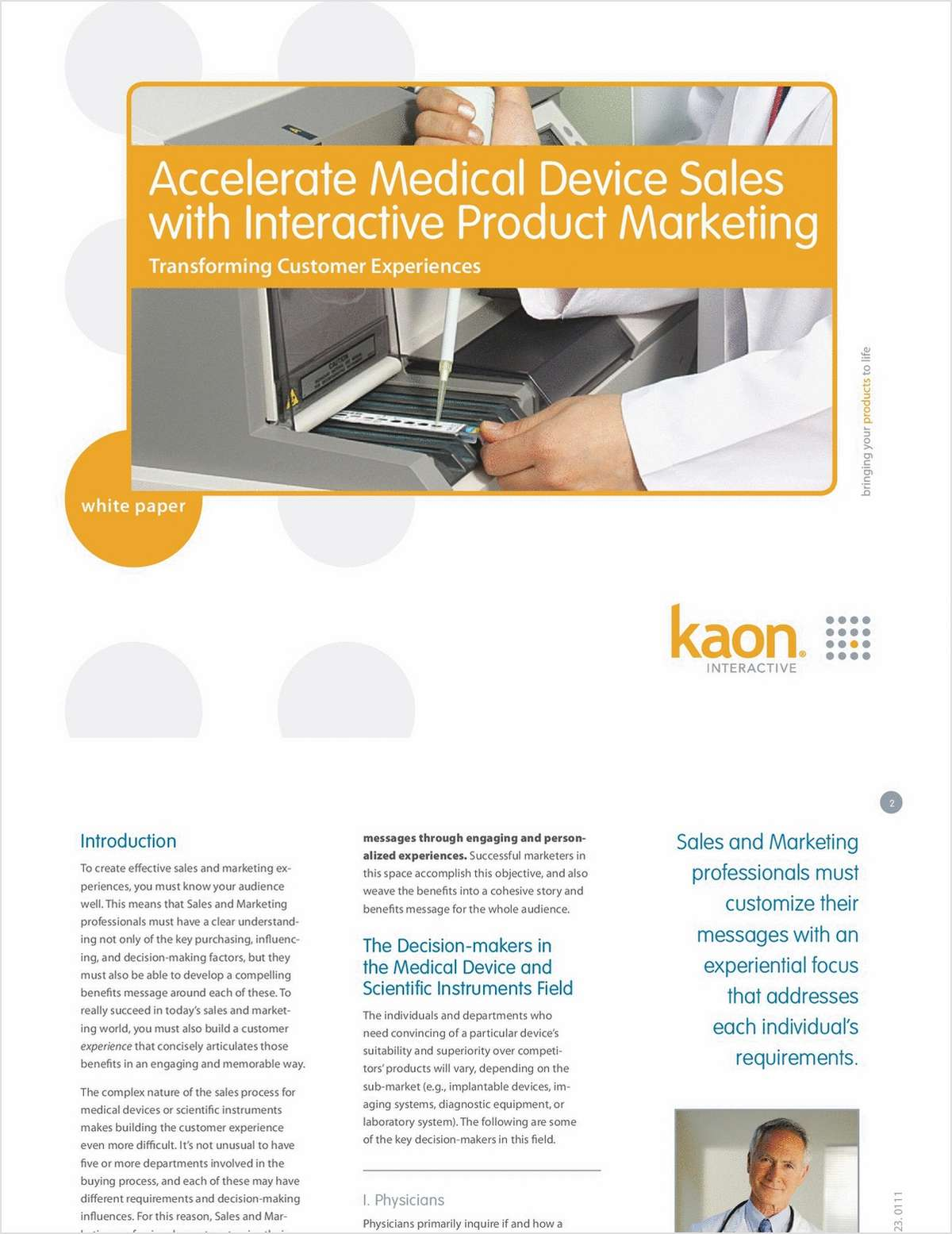 Accelerate Medical Device Sales with Interactive Marketing Solutions