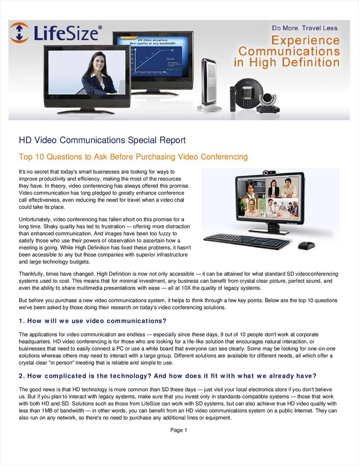 Top 10 Questions to Ask Before Purchasing Video Conferencing