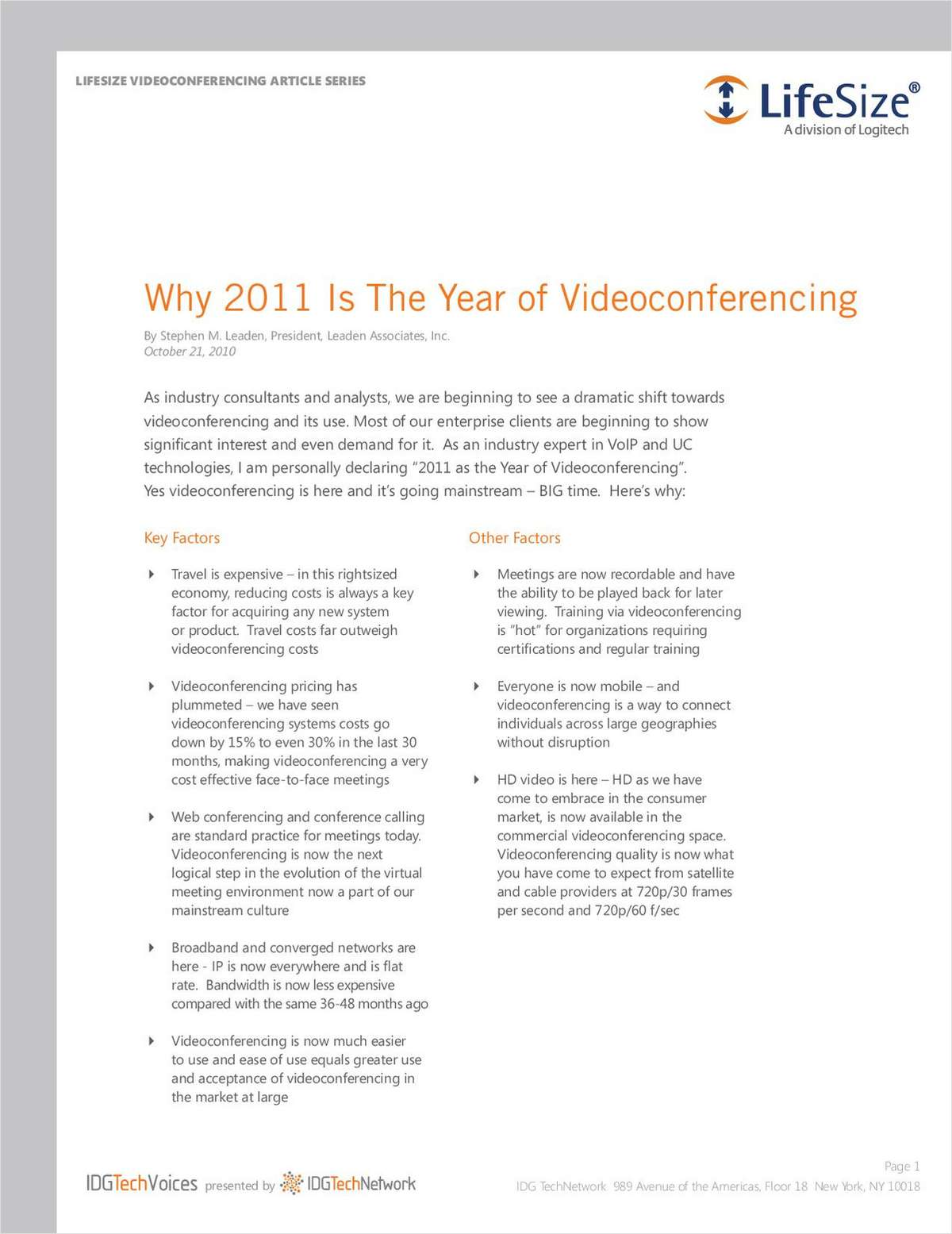 Why 2011 Is The Year of Videoconferencing