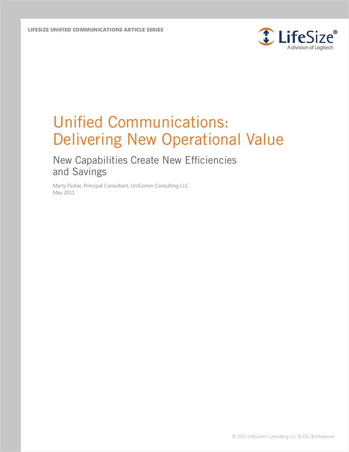 Unified Communications: Delivering New Operational Value