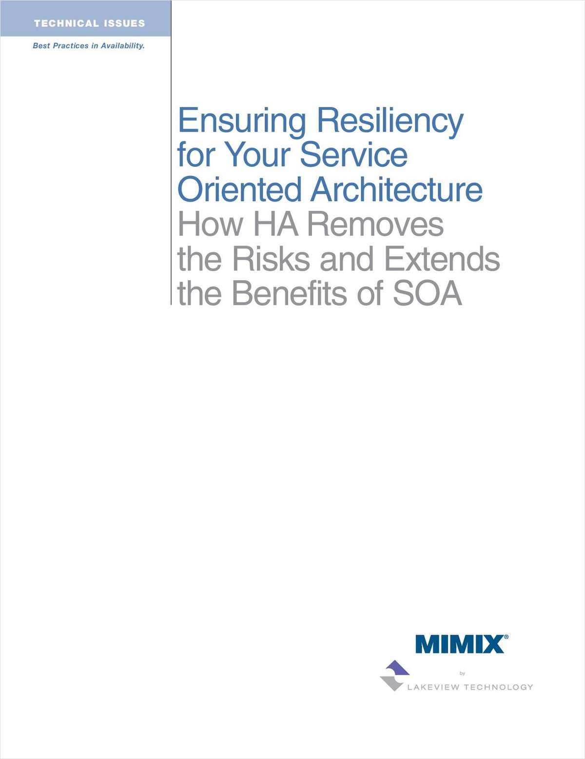 Puzzled by SOA? Ensuring Resiliency for Your Service Oriented Architecture
