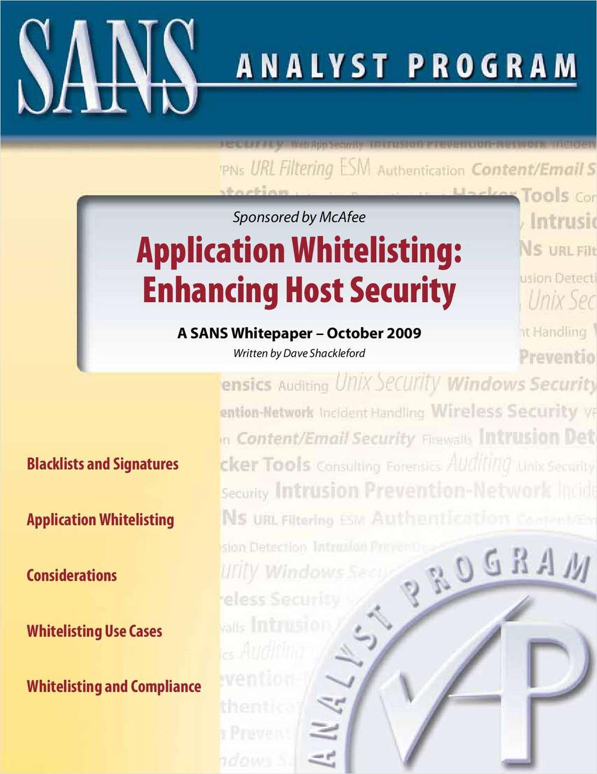 Understanding Application Whitelisting