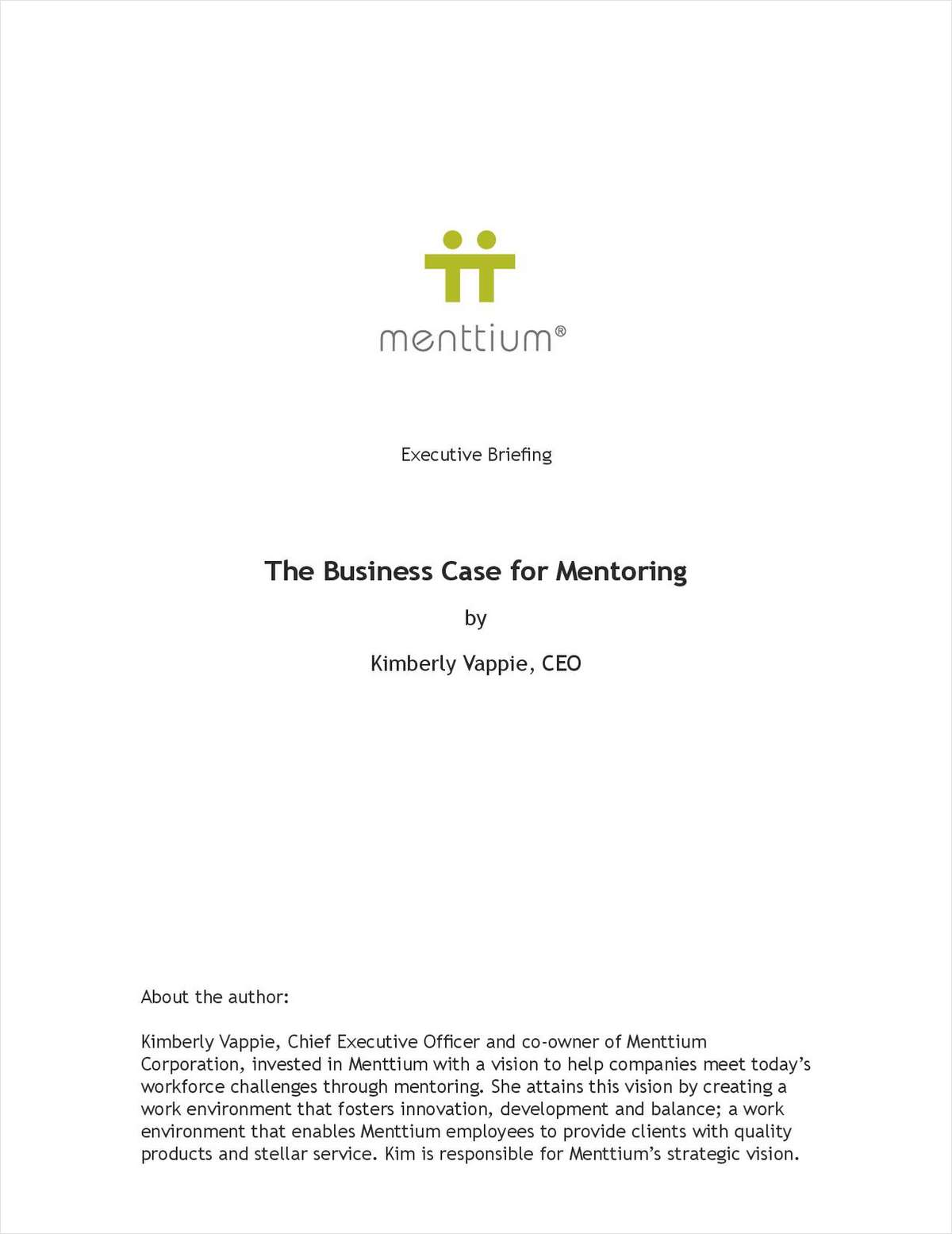 Business Case for Mentoring: Tangible Benefits Executives Should Understand