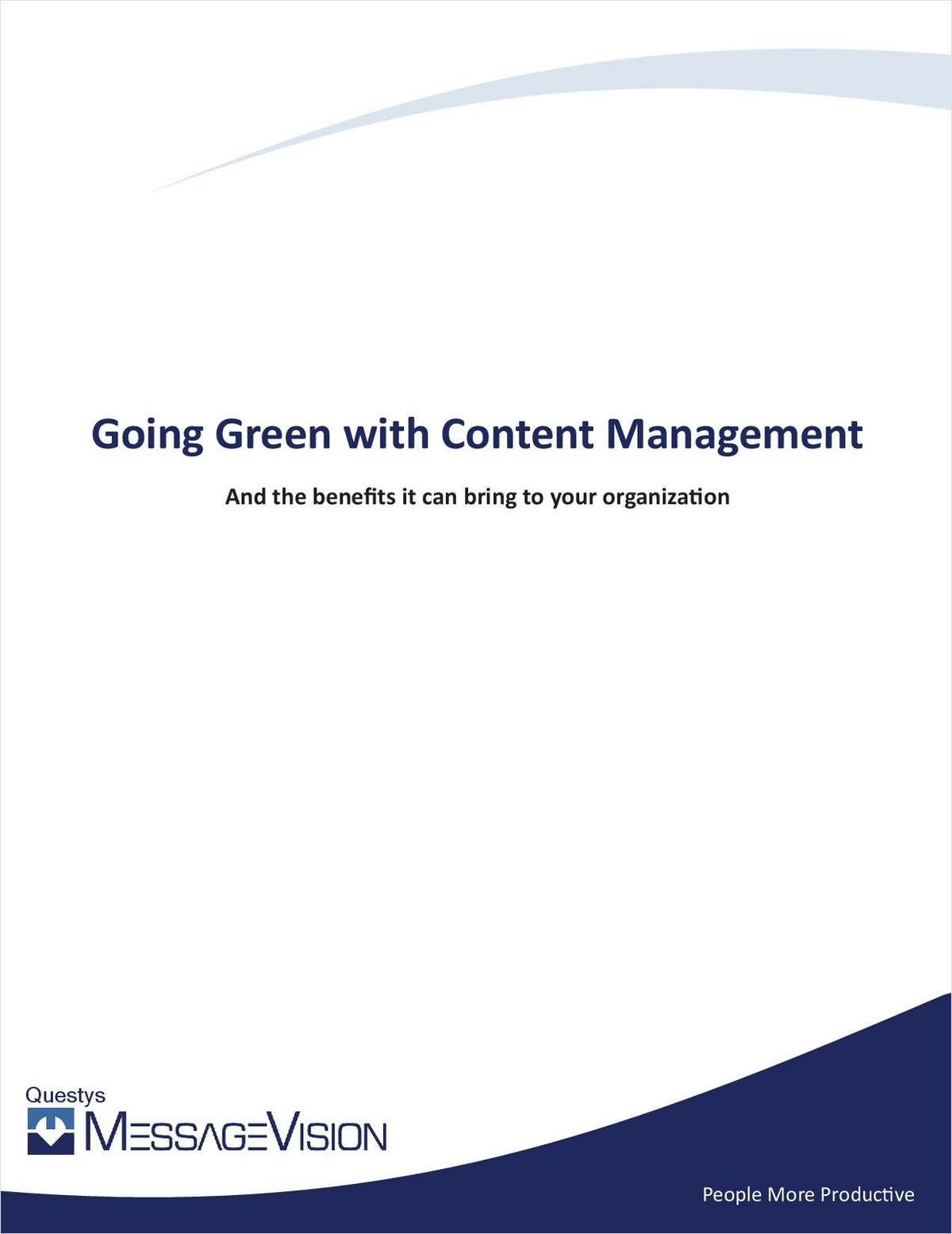 Going Green With Content Management