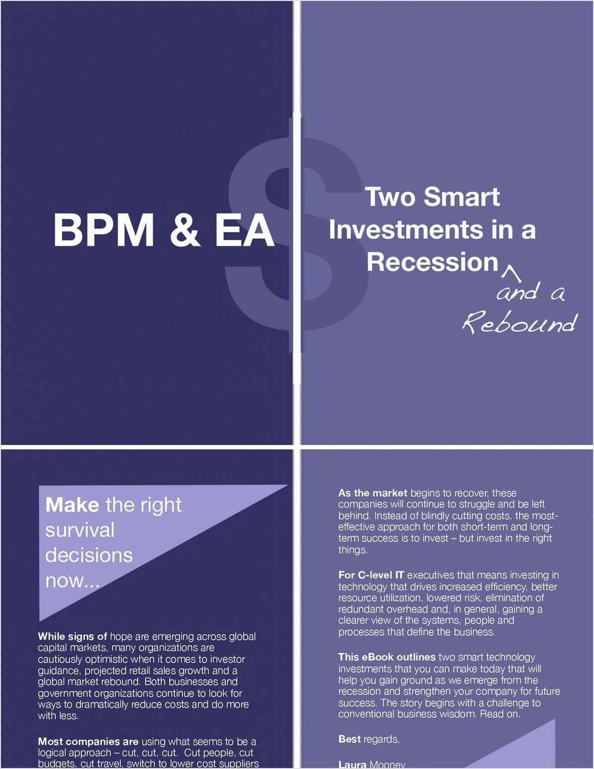 BPM & EA: Two Smart Investments in a Recession and a Rebound