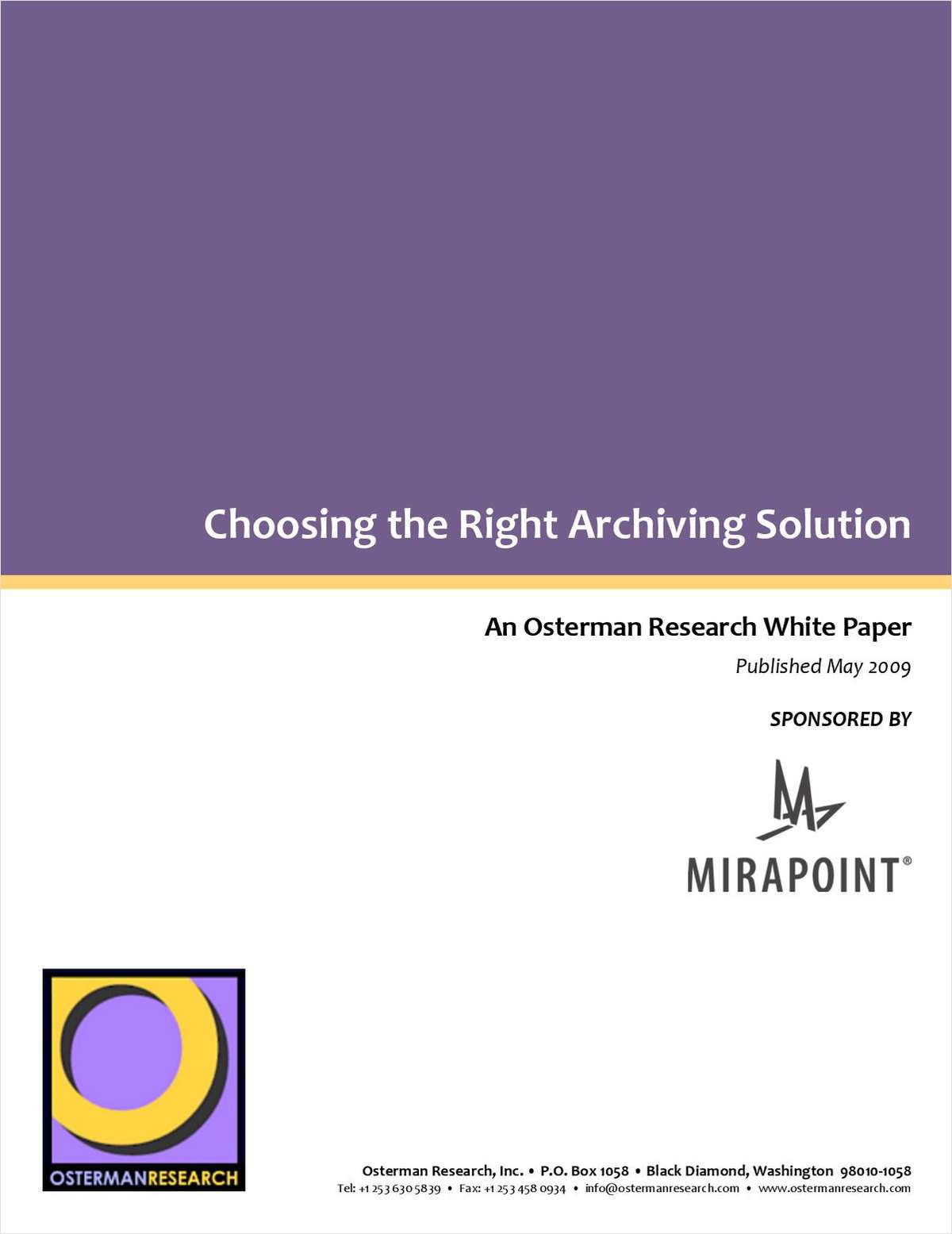 Choosing the Right Email Archiving Solution for your Enterprise