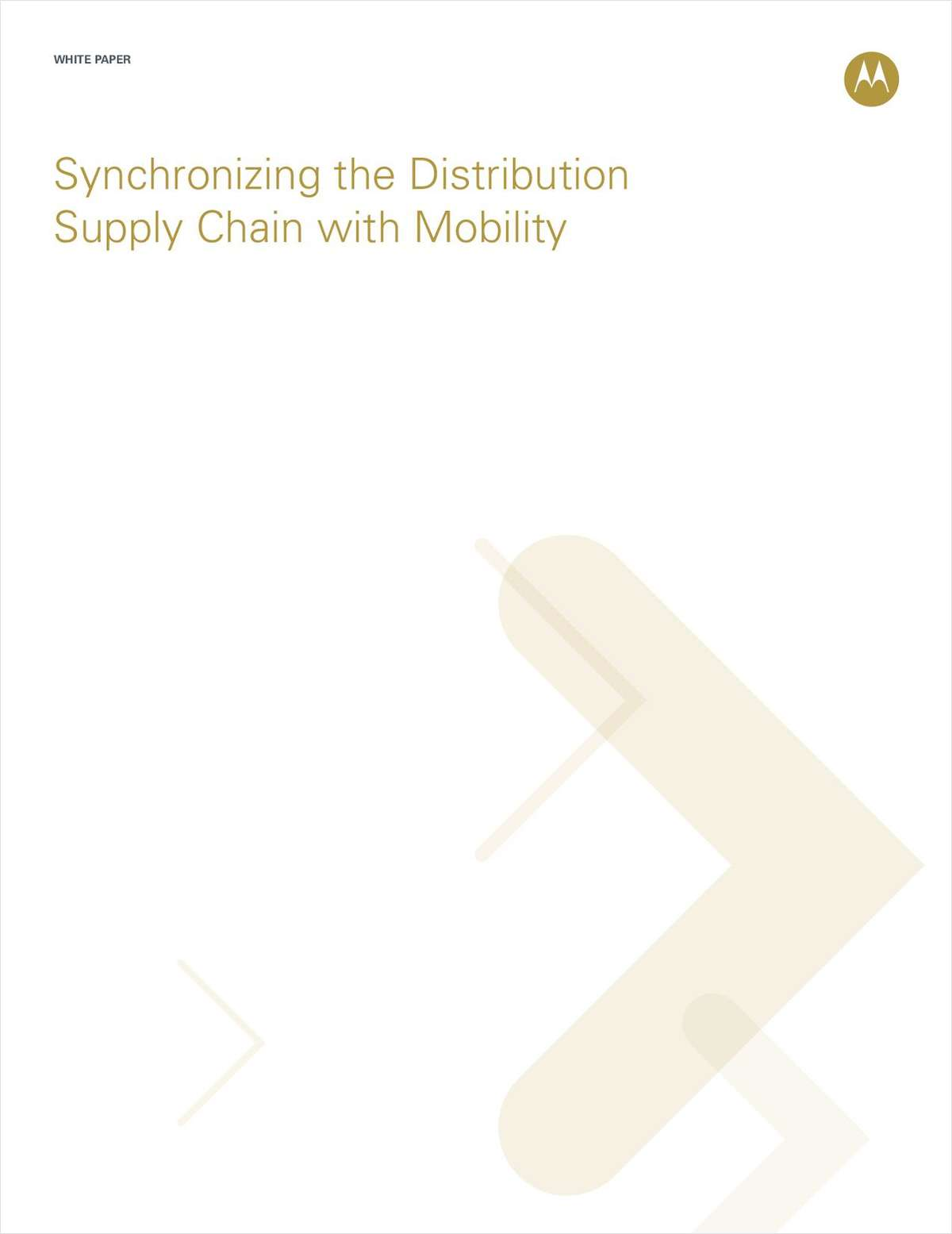 Synchronizing the Distribution Supply Chain with Mobility