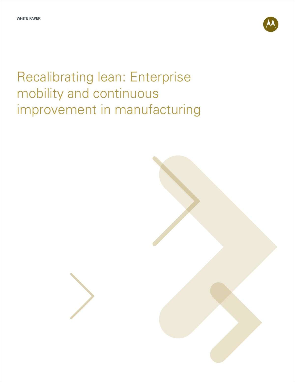 Recalibrating Lean: Enterprise Mobility and Manufacturing Improvement
