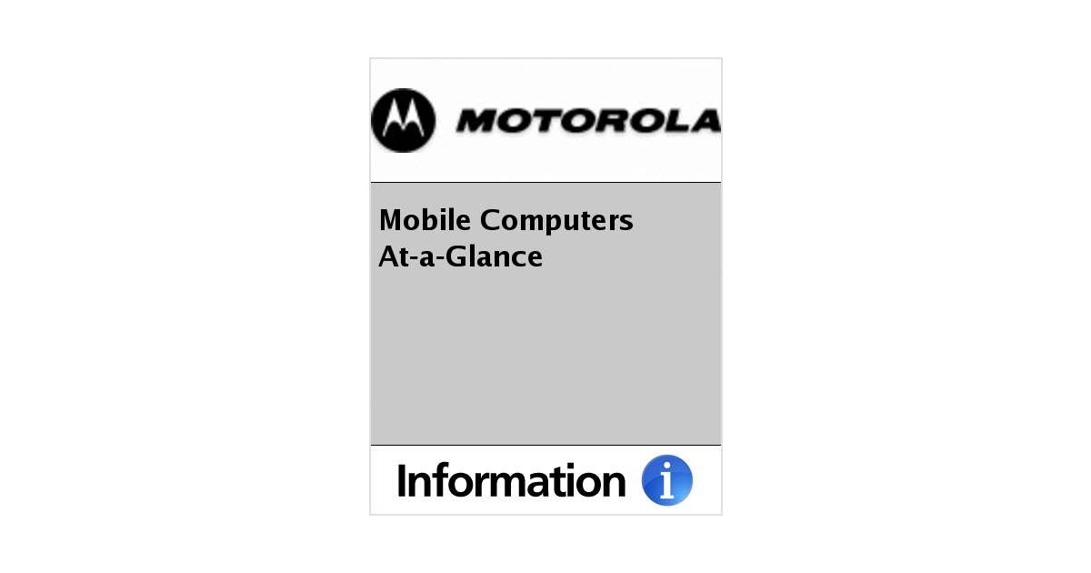 mobile computers at a glance free motorola brochure