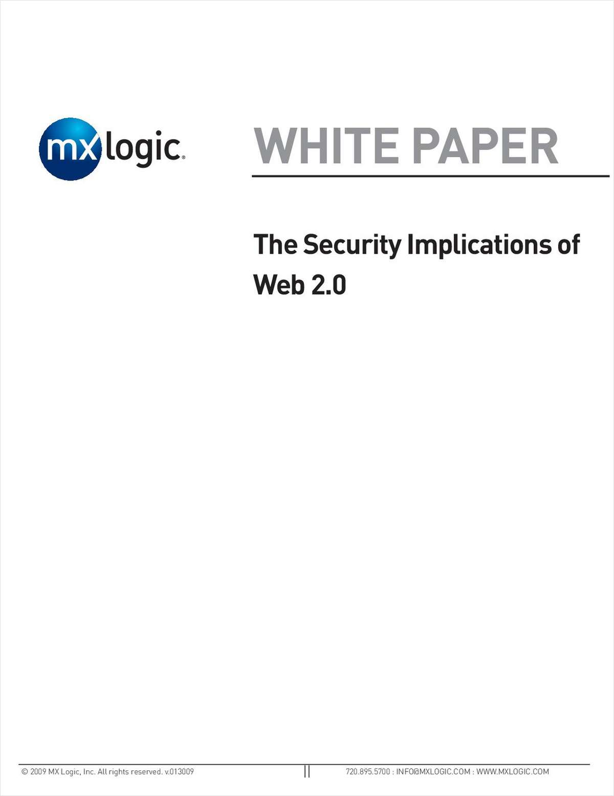 The Security Implications of Web 2.0