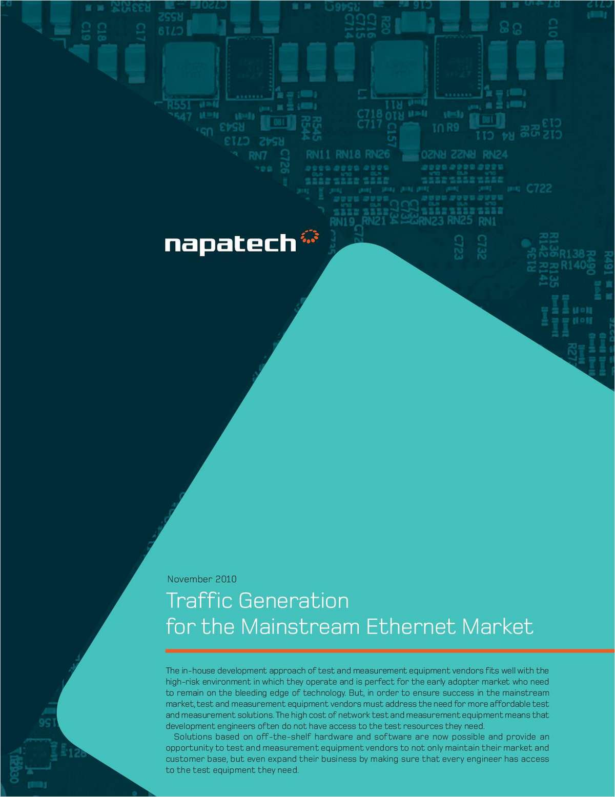 Traffic Generation for the Mainstream Ethernet Market for Test and Measurement Equipment Vendors