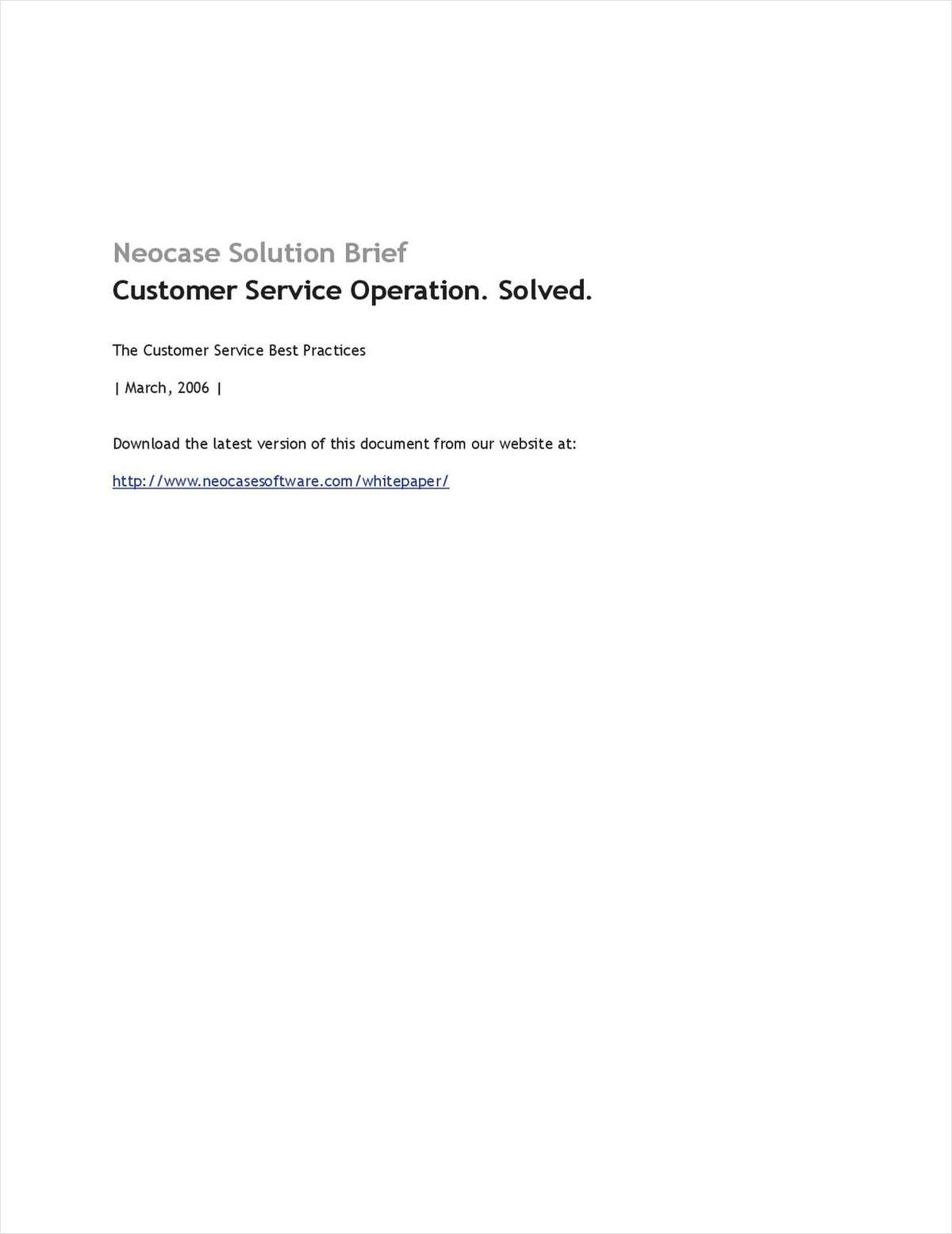 Neocase's Customer Service Best Practices