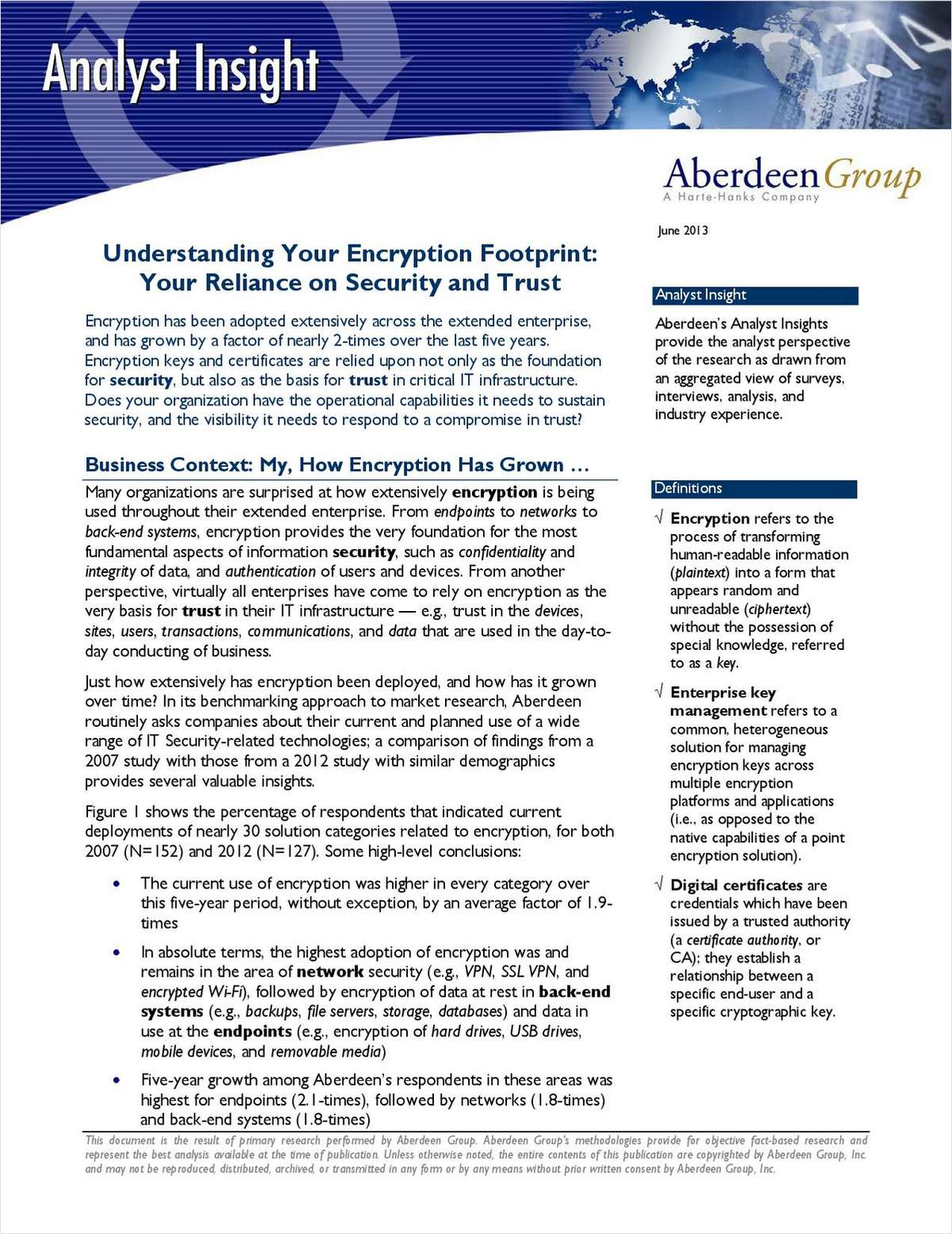 Understanding Your Encryption Footprint: Your Reliance on Security and Trust