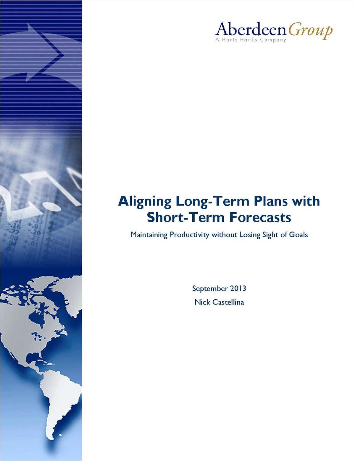 Aligning Long-term Plans with Short-term Forecasts: Maintaining Productivity without Losing Sight of Goals