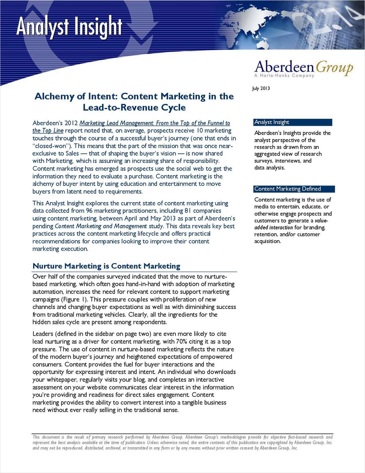Alchemy of Intent: Content Marketing in the Lead-to-Revenue Cycle