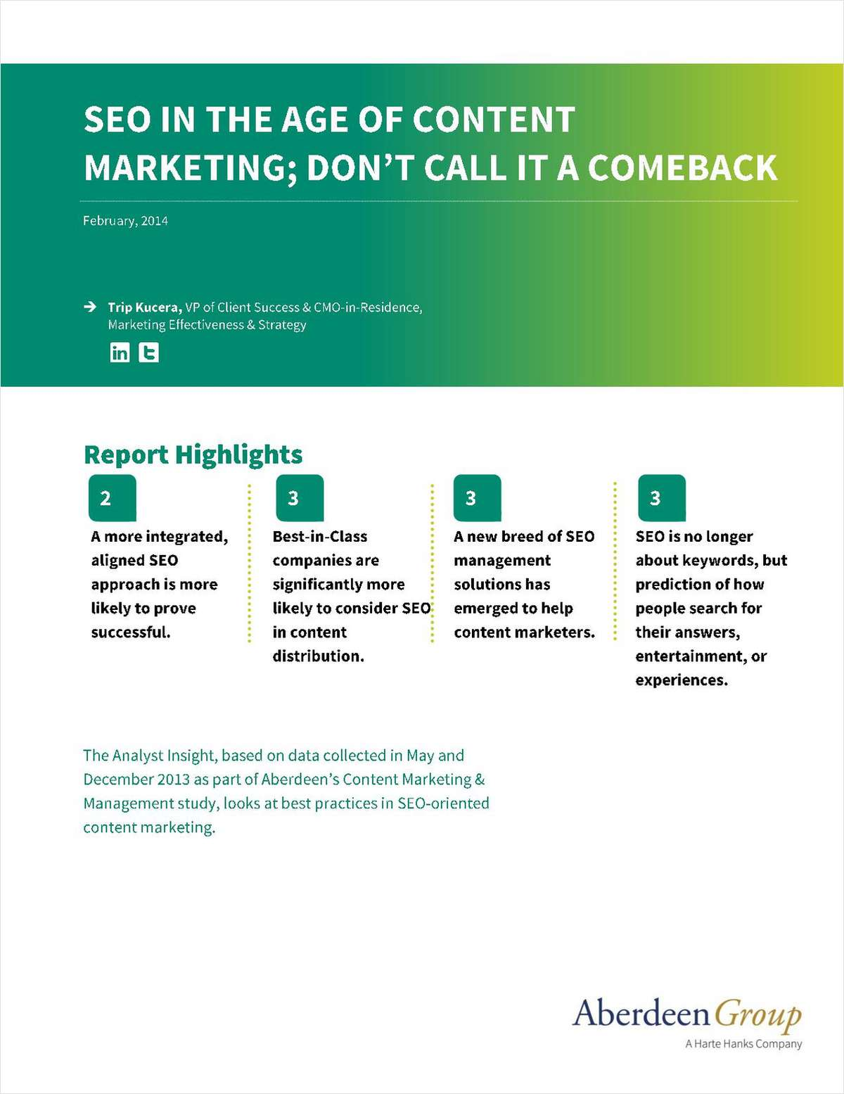 SEO Management in the Age of Content Marketing: Don't Call it a Comeback
