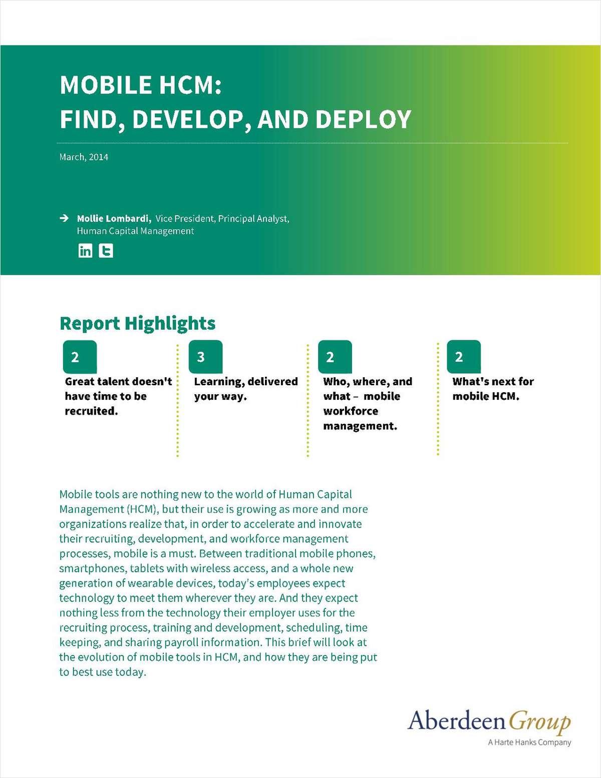 Mobile HCM: Find, Develop, and Deploy