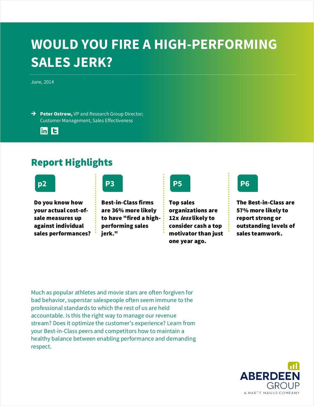 Would You Fire a High-Performing Sales Jerk?