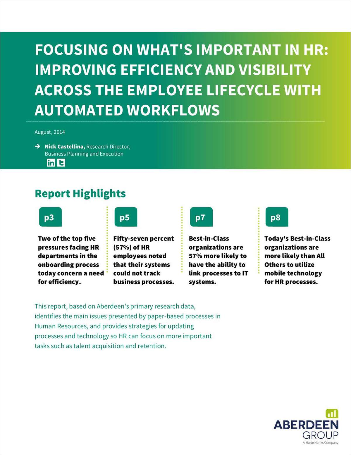 Focusing on What's Important in HR: Improving Efficiency and Visibility Across the Employee Lifecycle with Automated Workflows