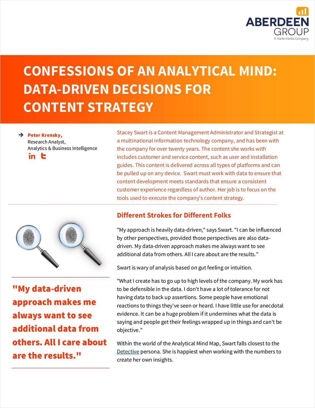 Confessions of an Analytical Mind: Data-Driven Decisions for Content Strategy
