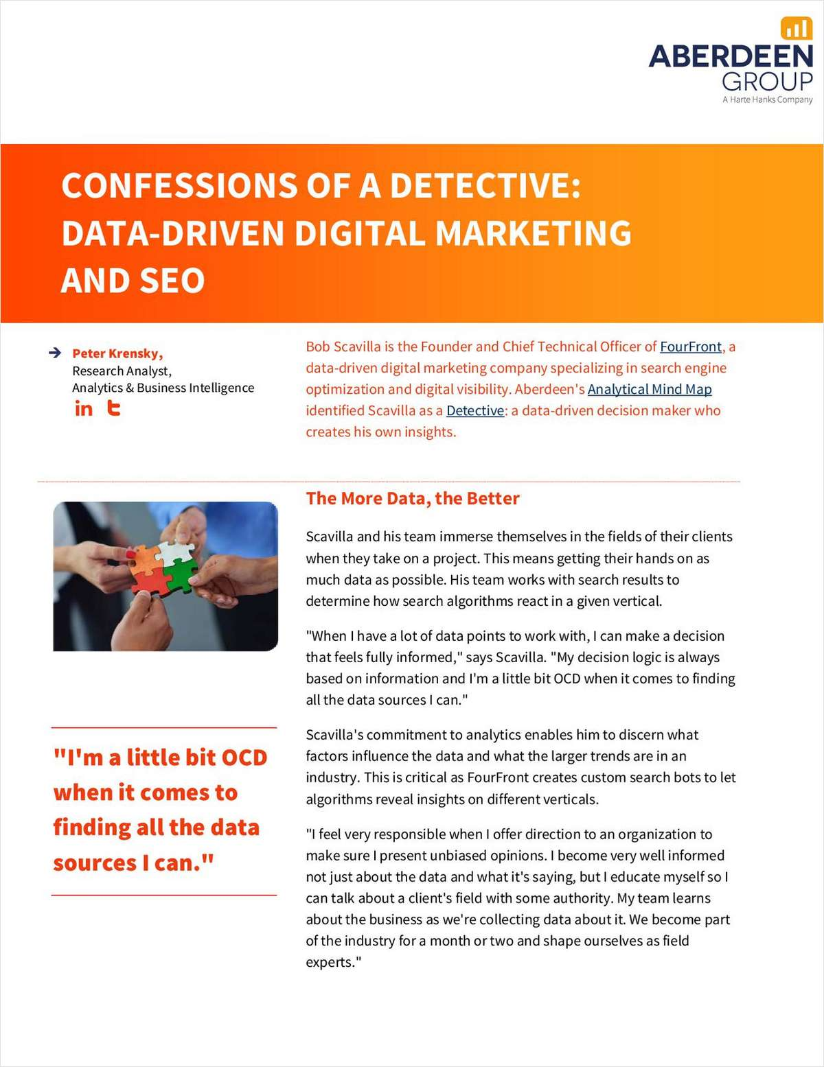 Confessions of a Detective: Data-Driven Digital Marketing and SEO