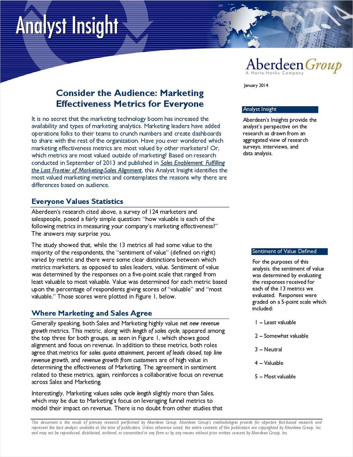 Consider the Audience: Marketing Effectiveness Metrics for Everyone