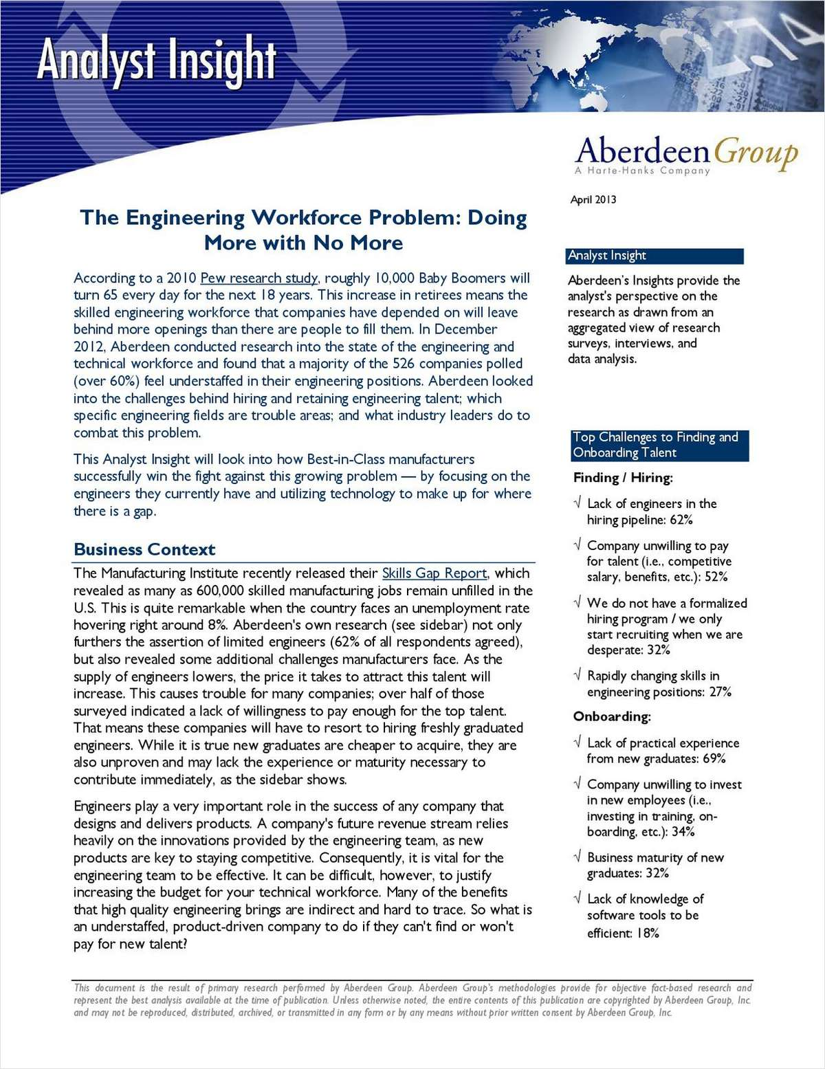 The Engineering Workforce Problem: Doing More with No More